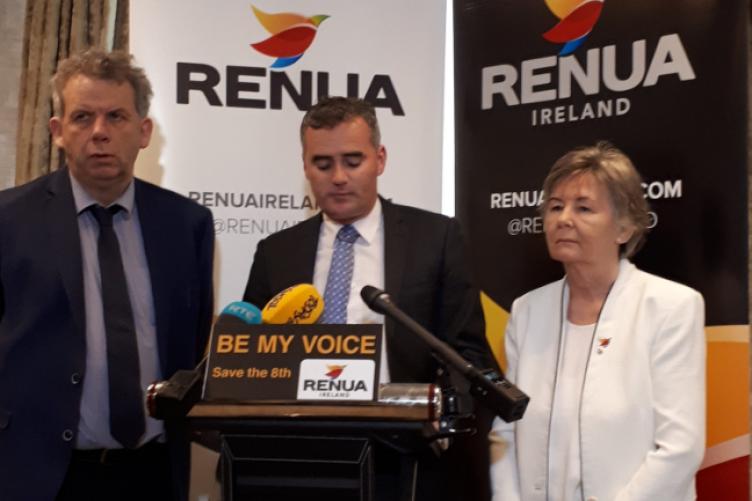 (LtoR) Renua's Michael O'Dowd, John Leahy and Jacqui Gilbourne.