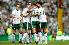 A beautiful finish from Alan Browne put Ireland ahead against Celtic