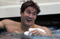 This guy's swimming togs ripped while he was racing and he still beat Michael Phelps
