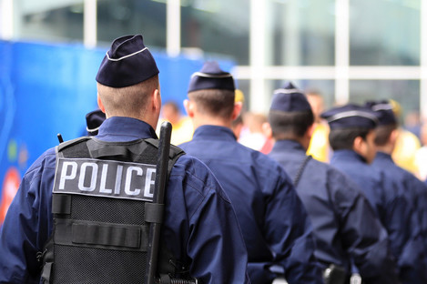 File photo of French police.