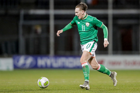 Curtis has become a key player for Ireland U21s.