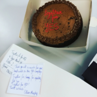 Cillian Murphy sent a cake to Together for Yes to thank them for all their hard work