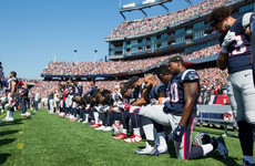 NFL teams are discussing a 15-yard penalty for kneeling during the anthem