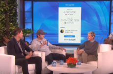 Ashton Kutcher suprised Ellen DeGeneres with $4 million for her wildlife fund and Ellen was shook