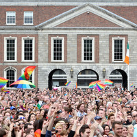 Dublin Castle courtyard will be open to the public tomorrow ... but don't expect any big screens