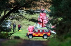 Four injured in helicopter crash