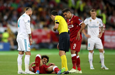 Early drama as Mo Salah departs Champions League final in tears