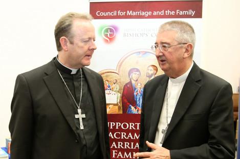 Archbishop Eamon Martin (left) and Archbishop Diarmuid Martin.
