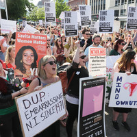 'We're unstoppable': Large crowds protest in Belfast for change to Northern Ireland abortion law
