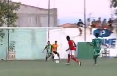 WATCH: Who needs a goalkeeper when you've got a ballboy to clear shots off the line?