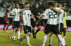 Messi warms up for Argentina's World Cup challenge with hat-trick at La Bombonera