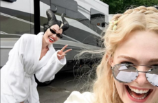 Elle Fanning shared the first photos of Angelina Jolie in Maleficent 2