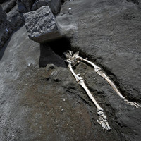 Archaeologists uncovered a skeleton from the Pompeii eruption and people are really relating to how he died