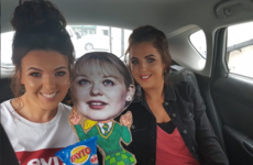 Nicola Coughlan of Derry Girls can't make it to the IFTAs tonight so the girls made a cardboard cut out of her instead