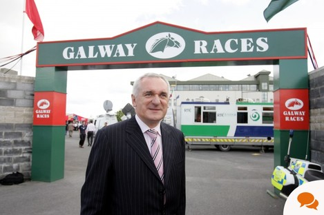 The then-Taoiseach Bertie Ahern at the Galway Races in 2006.