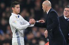 Zidane's Real Madrid exit 'a little bit strange' - James Rodriguez