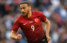Turkey and Everton star apologises after getting sent off for confronting his own supporters