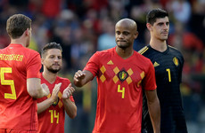 Worry for Belgium as Vincent Kompany limps off in dull pre-World Cup friendly