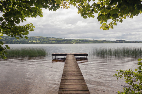 File photo of a pier on Lough Derg.
