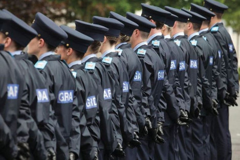 Recruits at the Garda Training College in Templemore in 2016.