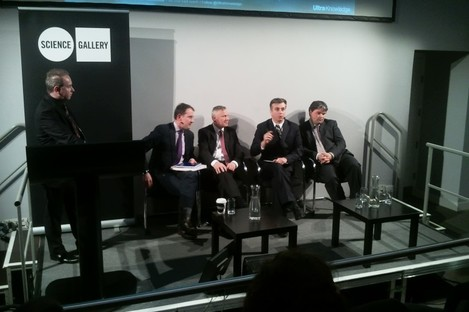 The panel at the #DRF2012 talk on copyright law in the Science Gallery in Dublin this afternoon