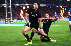 Controversial yellow the turning point as 8-try New Zealand rout France