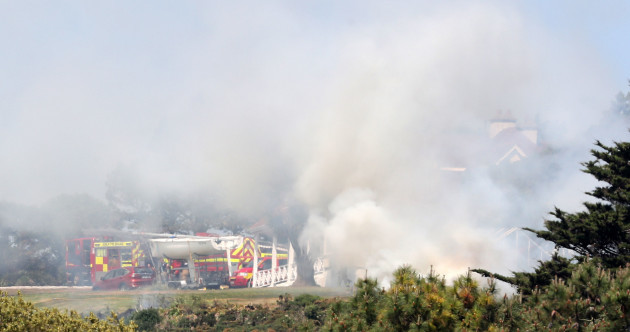 Photos: Dublin Fire Brigade battles gorse fire near Howth Head as hot weather persists