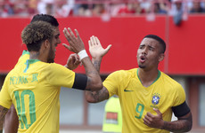 Neymar, Coutinho and Jesus secure win as World Cup favourites Brazil head for Russia