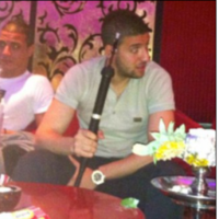 For the love of Chamakh! The Arsenal striker was a naughty boy on Saturday