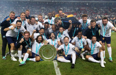 Robbie Keane scores, Cantona returns to Old Trafford but England win Soccer Aid on penalties