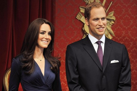 New wax figures of Kate and Will