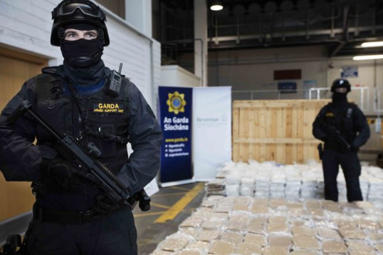 A haul of €40 million worth of herbal cannabis seized in Dublin Port last year.