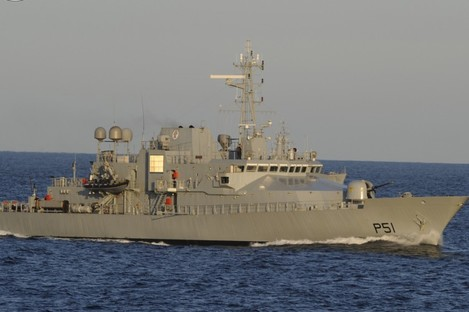 The L.E. Roisin, which was involved in today's detention of a Spanish vessel.