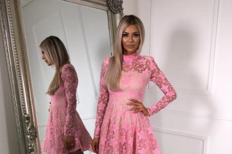 A dress for sale in Cari's Closet.