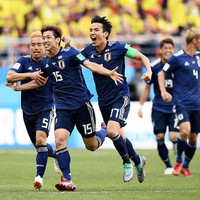 Japan defeat 10-man Colombia following third-minute red card to take command of Group H