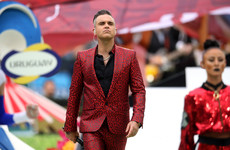 Robbie Williams says he didn't mean to cause an international incident during the Opening Ceremony of the World Cup