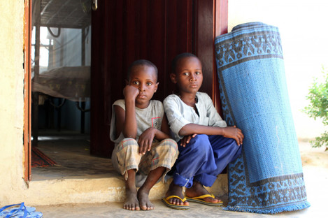Brothers who were abducted by Boko Haram sitting in a UN-run transit centre in the north-eastern city of Maiduguri, Nigeria, 30 June 2017