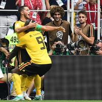 Lukaku and Hazard star with a brace each as Belgium crush Tunisia in seven goal contest