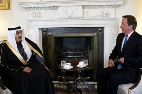 British PM David Cameron meets with Saudi Arabia's Defence Minister earlier this week