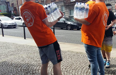 Concerned charity takes to the streets to provide water to homeless people as temperatures increase