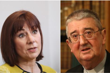 Culture Minister Josepha Madigan and Archbishop of Dublin Diarmuid Martin