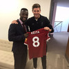 Steven Gerrard personally handed Naby Keïta Liverpool's famous number 8 shirt