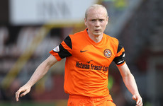 Irish midfielder leaves Dunfermline just over a week after joining them