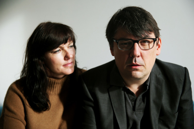 Graham Linehan and his wife Helen
