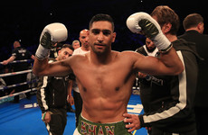 Amir Khan follows up 39-second KO in comeback fight by announcing next bout