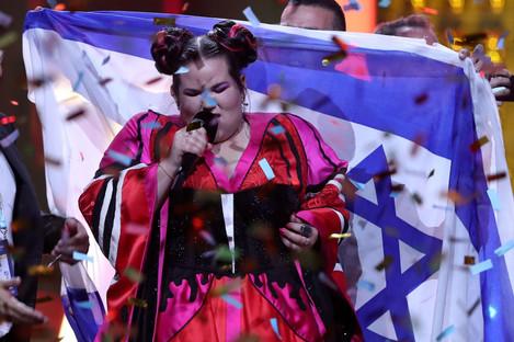 Eurovision Song Contest winner, Netta, of Israel.