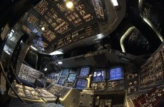 What does the cockpit of a space shuttle look like?