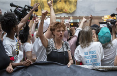 Susan Sarandon was arrested at an anti Trump protest yesterday