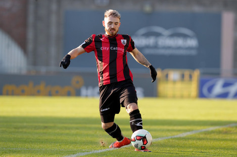 Longford forward Dylan McGlade scored a brace on Friday against UCD.
