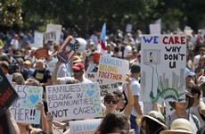 Large crowds across the US protest against Trump's immigration policy